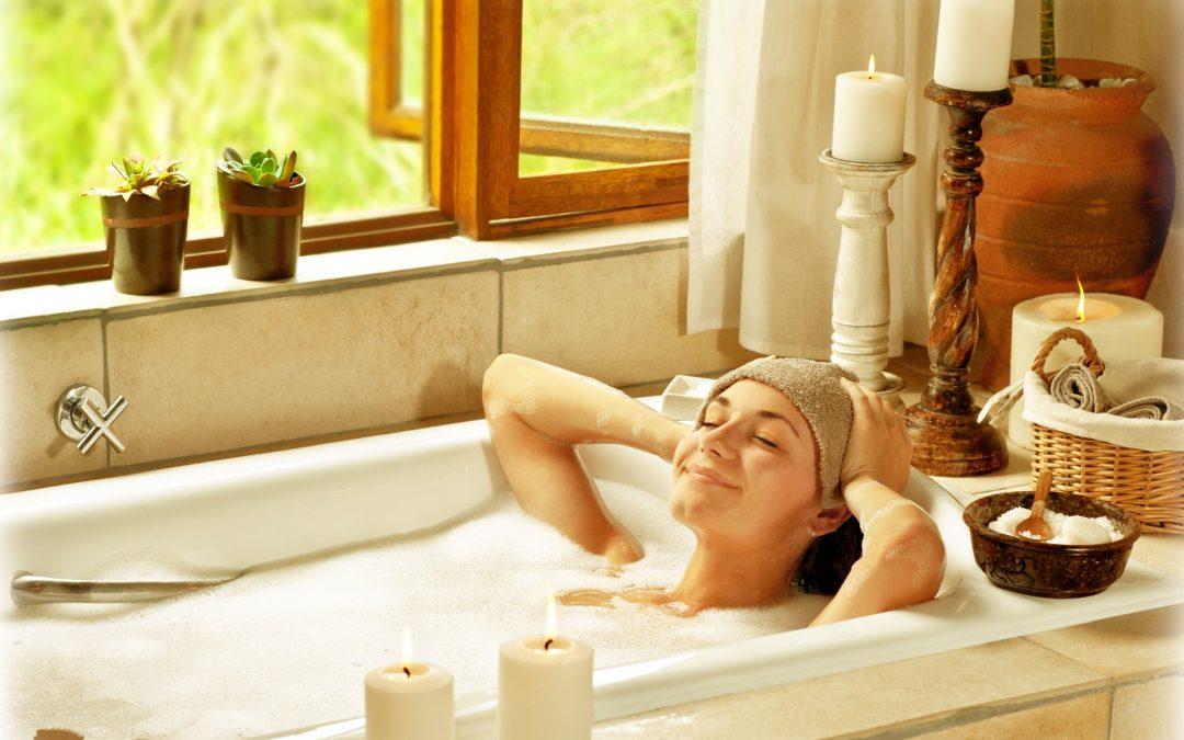Woman Having Bath